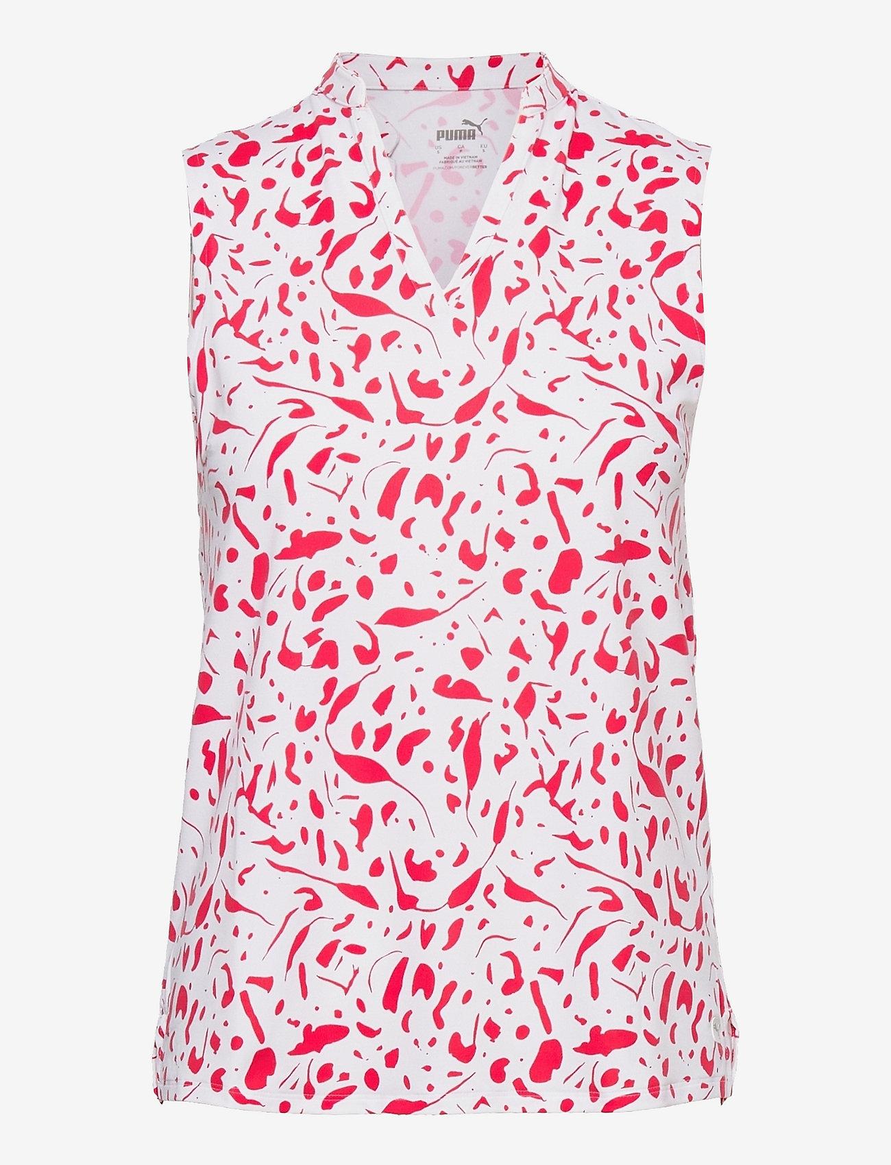 PUMA Golf - W Cloudspun Chelsea SL Polo - blouses zonder mouwen - teaberry - 0