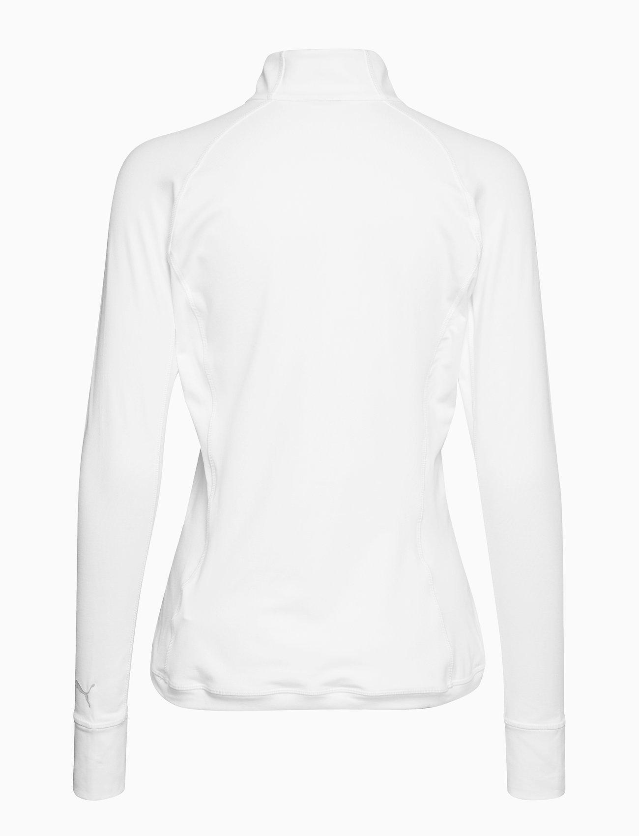 PUMA Golf - W Rotation 1/4 Zip - topjes met lange mouwen - bright white - 1