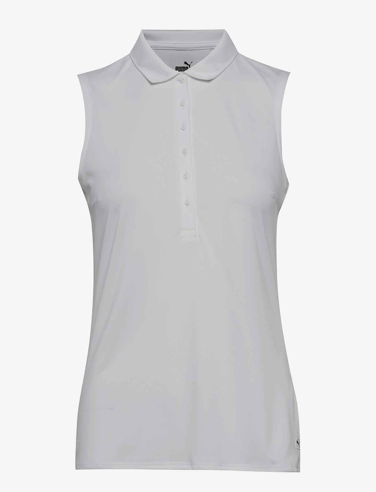 PUMA Golf - Rotation Sleeveless Polo - polo's - bright white - 0