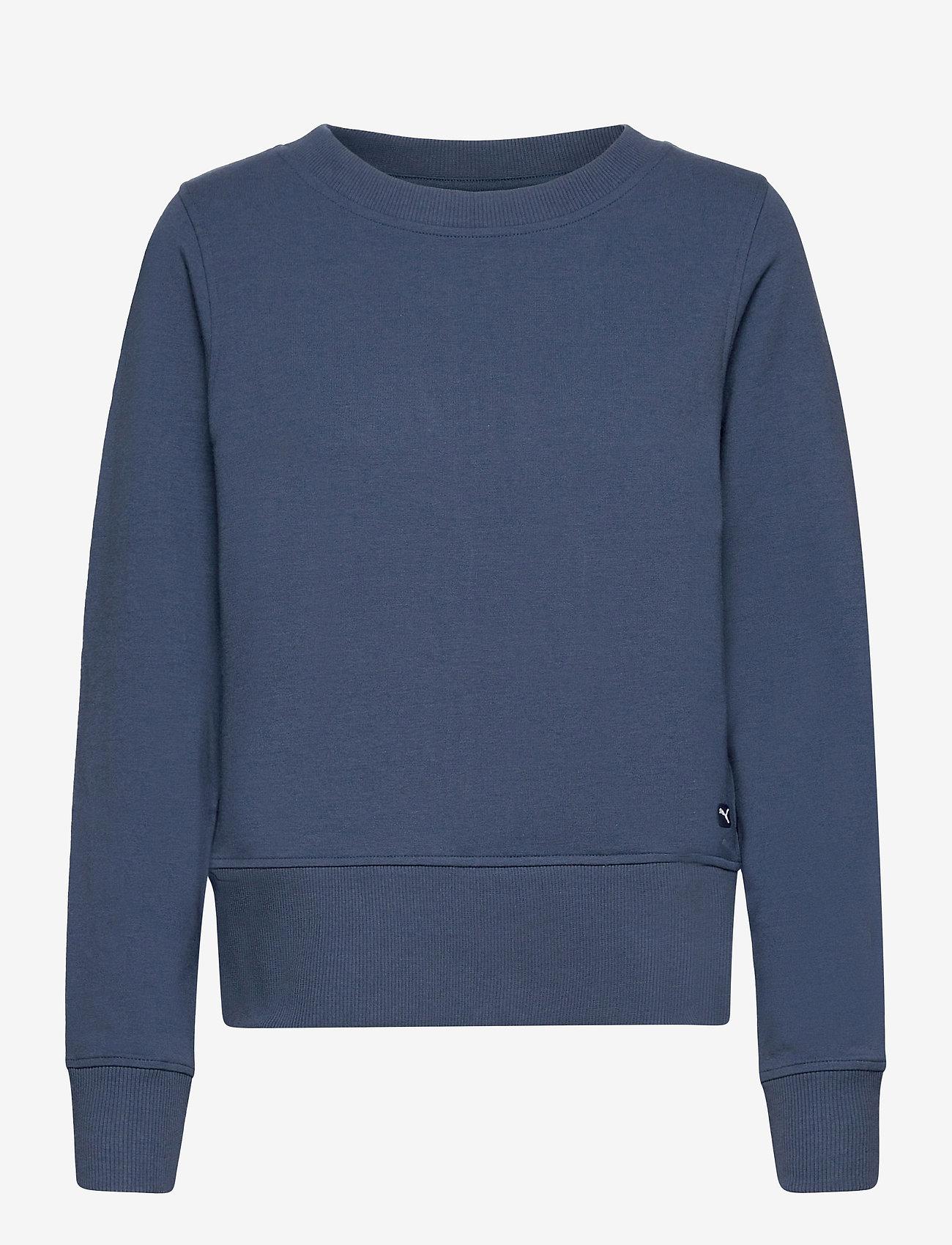 PUMA Golf - W Crewneck Zip Fleece - sweatshirts - dark denim - 0