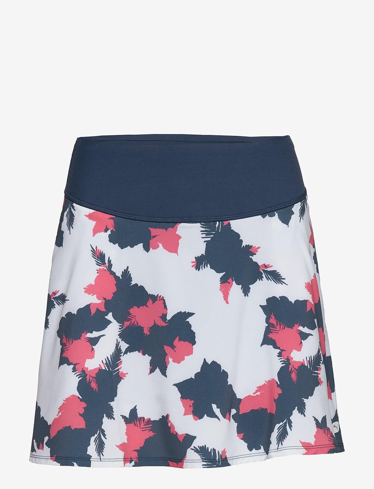 PUMA Golf - PWRSHAPE Floral Skirt - rokjes - dark denim - 0