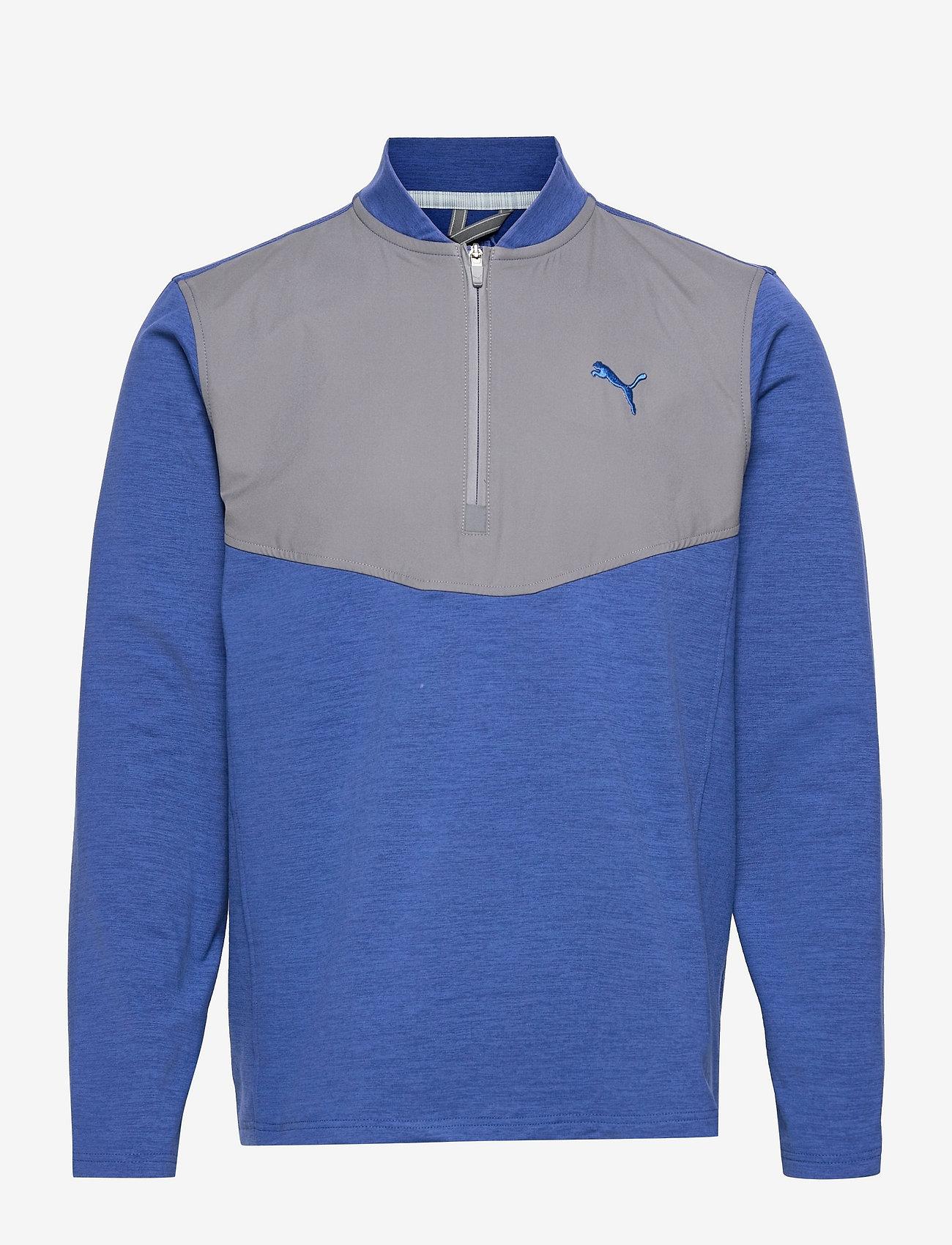 PUMA Golf - Cloudspun Stlth  Zip - longsleeved tops - mazarine blue heather-quiet shade - 0