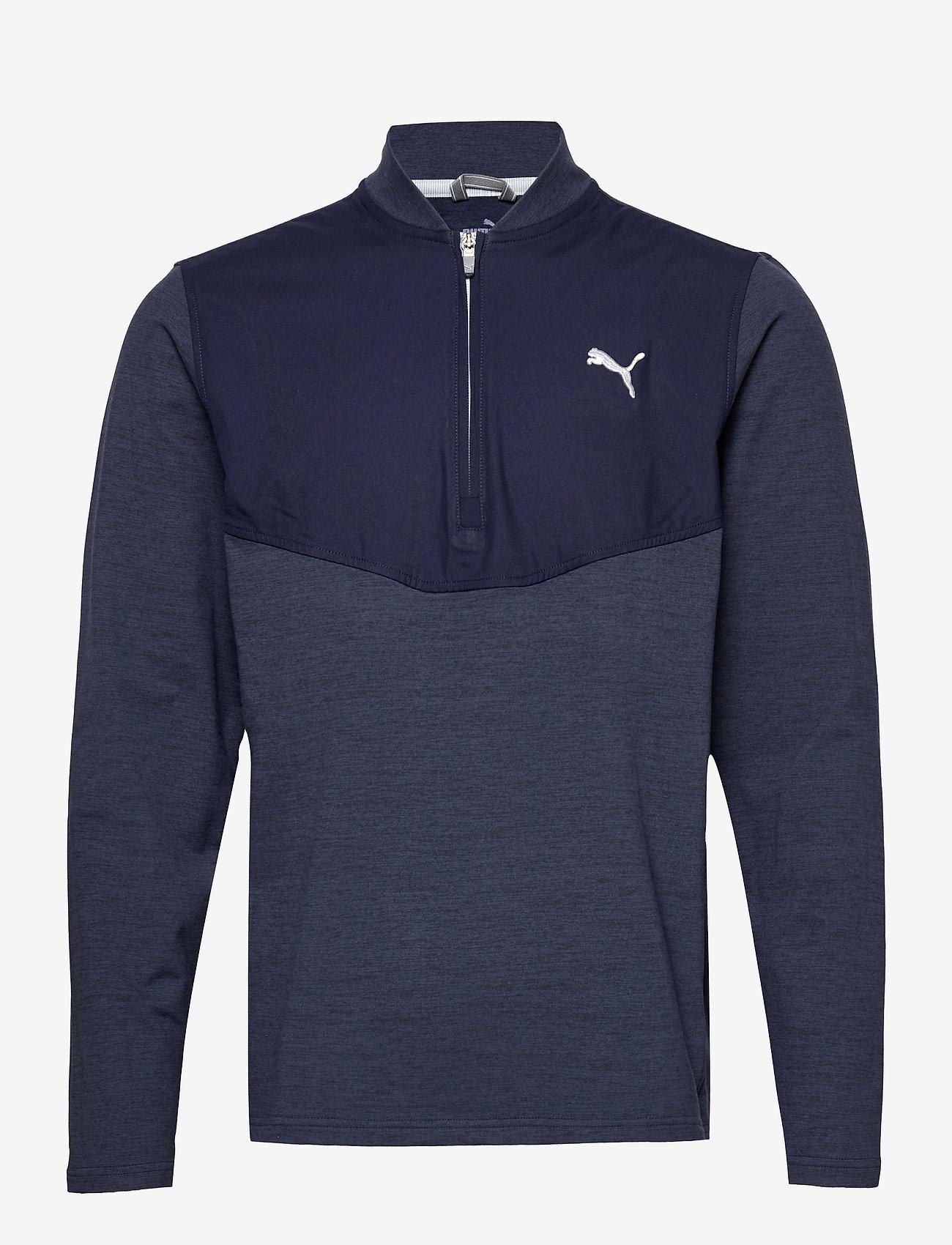 PUMA Golf - Cloudspun Stlth  Zip - podstawowe bluzy - navy blazer heather - 0