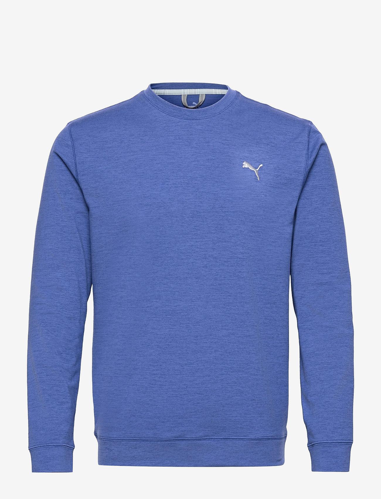 PUMA Golf - Cloudspun Crewneck - Överdelar - mazarine blue heather - 0