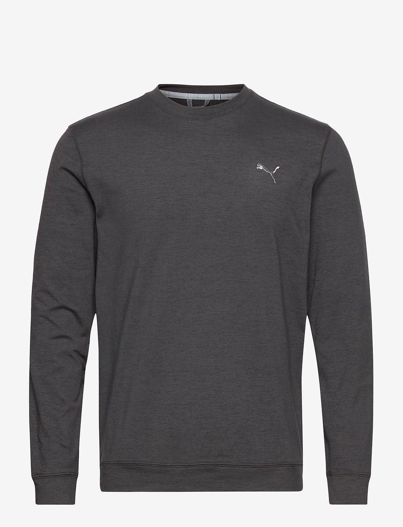 PUMA Golf - Cloudspun Crewneck - Överdelar - puma black heather - 0