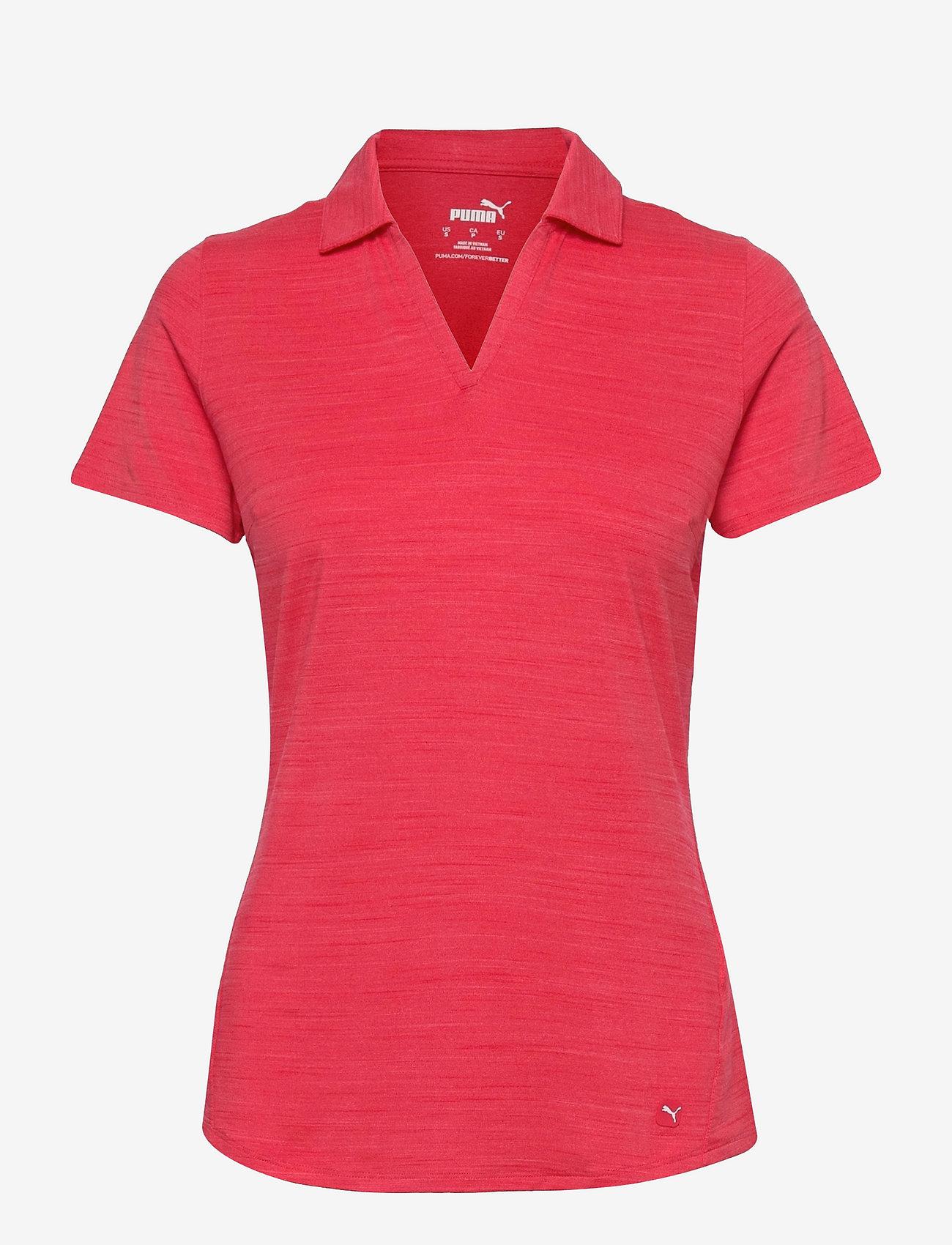 PUMA Golf - Cloudspun Free Polo - polo's - teaberry heather - 0