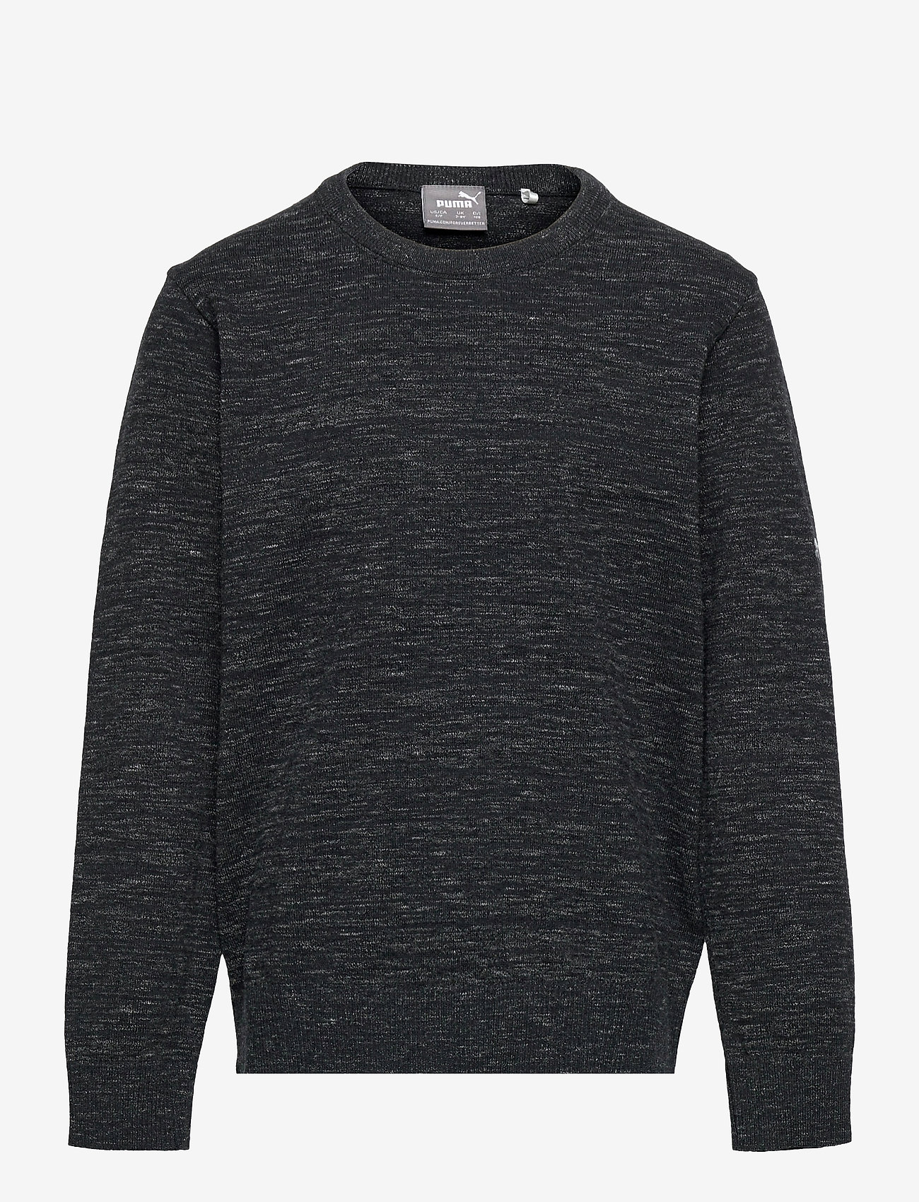 PUMA Golf - Boys Crewneck Sweater - knitwear - puma black heather - 0
