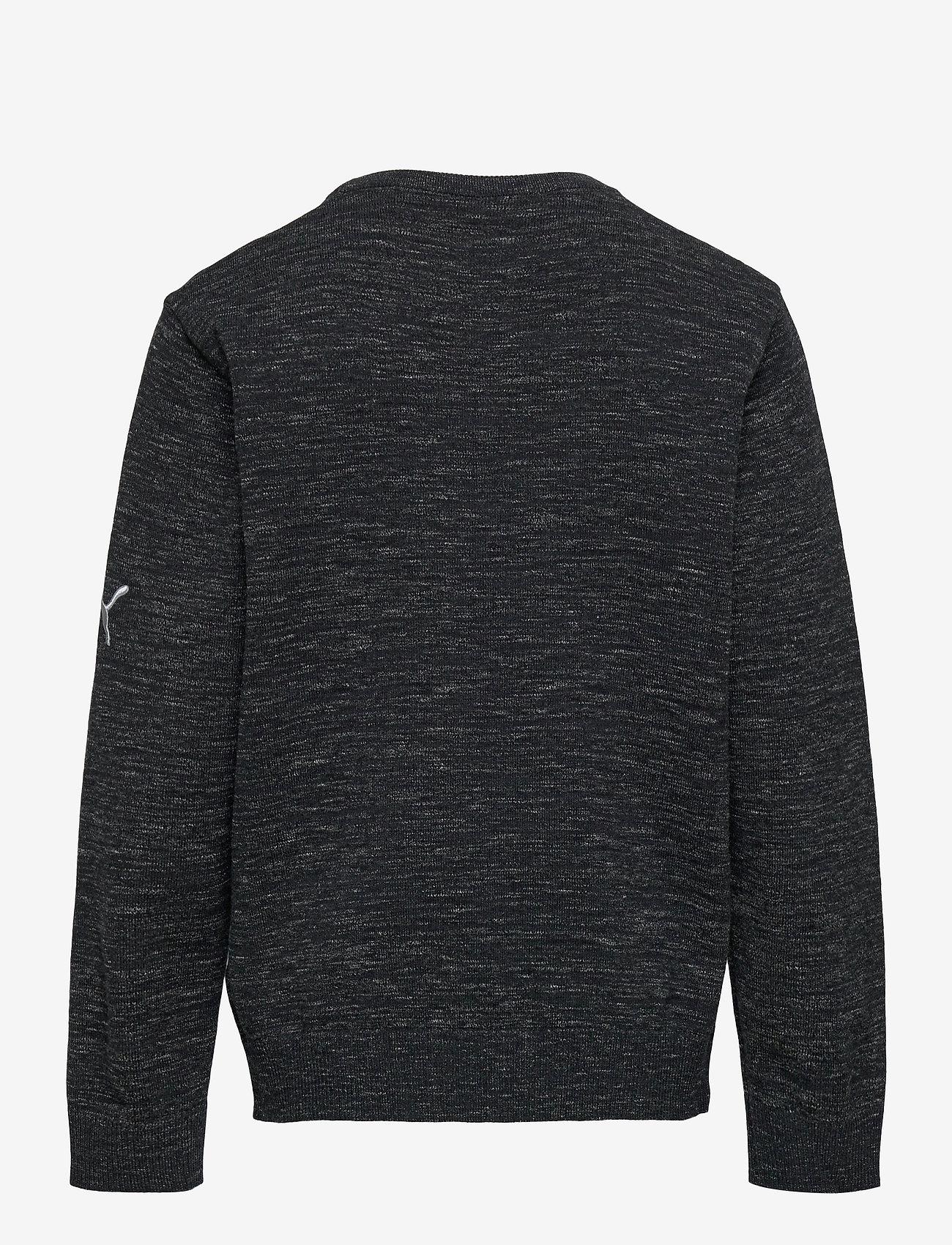 PUMA Golf - Boys Crewneck Sweater - knitwear - puma black heather - 1