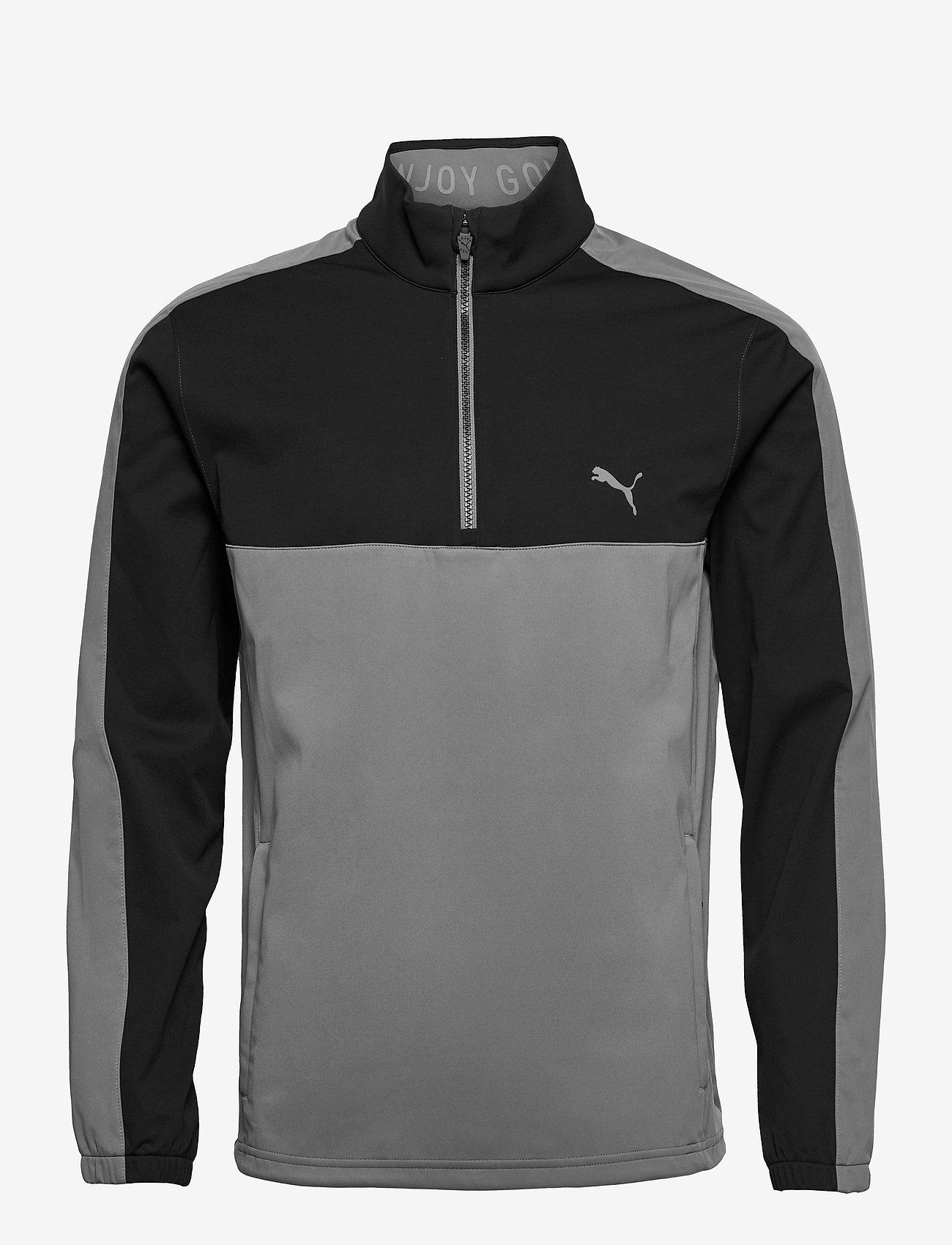 PUMA Golf - Riverwalk Wind Jacket - golf jackets - puma black-quiet shade - 0
