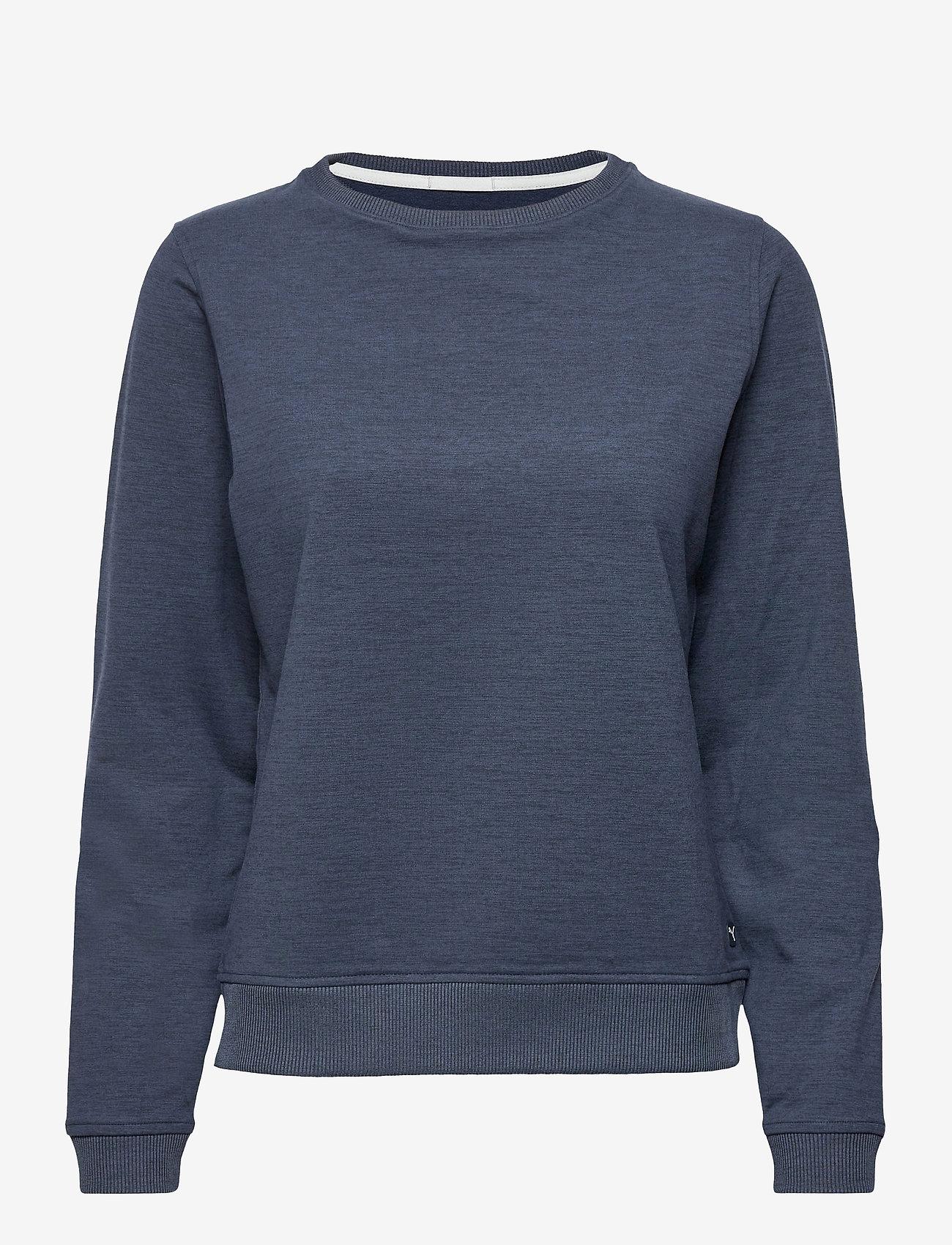 PUMA Golf - W Cloudspun Crewneck - sweatshirts - navy blazer heather - 0