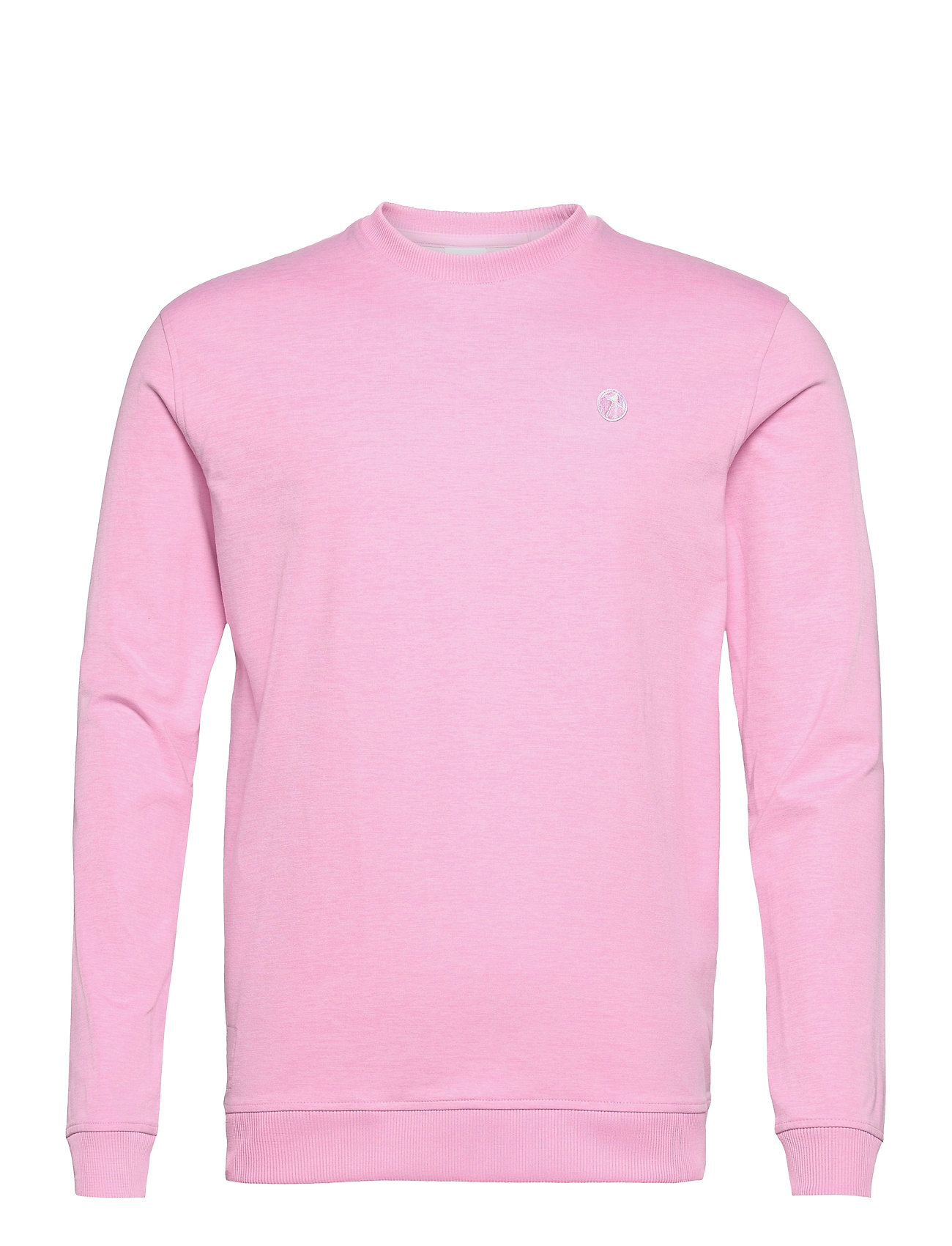 PUMA Golf - AP Cloudspun Crewneck - tops - pale pink heather - 0