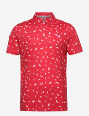 Cloudspun Feathers Polo - TEABERRY-BRIGHT WHITE