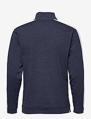 PUMA Golf - Cloudspun T7 1/4 Zip - golf jackets - navy blazer heather-bright white - 1