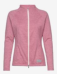 PUMA Golf - Cloudspun W Warm Up Jacket - sweatshirts - rapture rose heather - 0