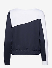 PUMA Golf - W Colorblock Crew - sweatshirts - navy blazer-bright white - 1