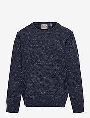 Boys Crewneck Sweater - PEACOAT HEATHER