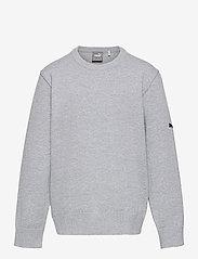 Boys Crewneck Sweater - QUARRY HEATHER