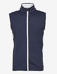PUMA Golf - Cloudspun T7 Vest - golf jackets - navy blazer heather-bright white - 0