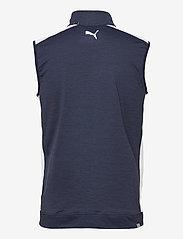 PUMA Golf - Cloudspun T7 Vest - golf jackets - navy blazer heather-bright white - 1