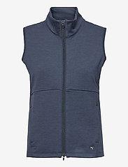 PUMA Golf - W Cloudspun FZ Vest - gebreide vesten - navy blazer heather - 0
