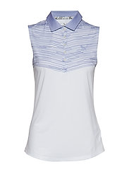 W Chevron Sleeveless Polo - SWEET LAVENDER