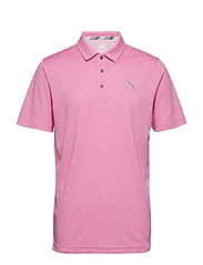 Grill to Green Polo - FUCHSIA PURPLE HEATHER