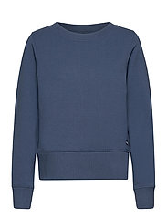 W Crewneck Zip Fleece - DARK DENIM