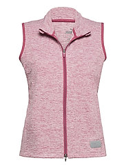 W Warm Up Vest - ROSE WINE HEATHER