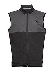 Cloudspun Warm Up Vest - PUMA BLACK-QUIET SHADE