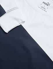 PUMA Golf - W Colorblock Crew - sweatshirts - navy blazer-bright white - 2