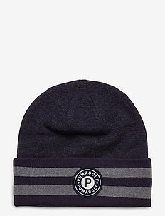 P Circle Patch Beanie - luer - peacoat