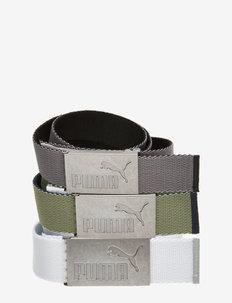 6 Pack Web Belt - ceintures de sport - puma black-bright white
