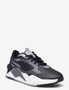 RS-G - golf shoes - puma black-quiet shade-dark shadow