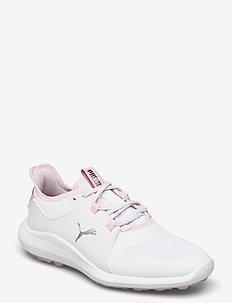 IGNITE FASTEN8 Wmns - golf shoes - puma white-puma silver-pink lady