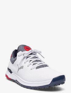 PROADAPT ALPHACAT - golf shoes - puma white-navy blazer-high risk re