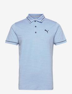 Cloudspun Monarch Polo - kurzärmelig - placid blue heather-navy blazer
