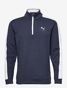 Cloudspun T7 1/4 Zip - golf jassen - navy blazer heather-bright white