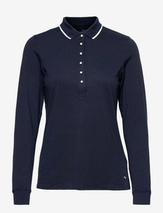 W CLOUDSPUN Longsleeve Polo - polo's - navy blazer