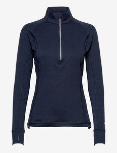 W Rotation 1/4 Zip - topjes met lange mouwen - navy blazer