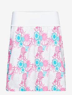 PWRSHAPE Blossom Skirt - BRIGHT WHITE-FUSCHIA PURPLE