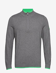 Dunluce 1/4 Zip - half zip jumpers - quiet shade-irish green