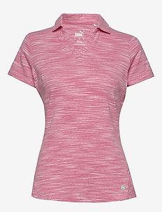 W Heather Slub Polo - koszulki polo - rapture rose heather