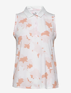 Floral Sleeveless Polo - poloer - rosewater