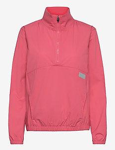 W Half Zip WIndbreaker - golf jackets - rapture rose