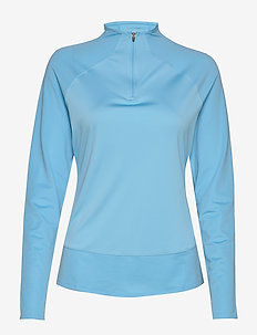 W Mesh 1/4 Zip - langermede topper - ethereal blue