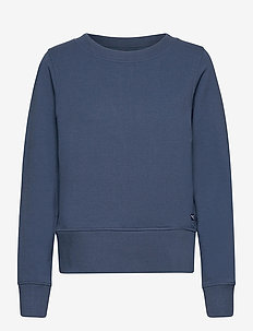 W Crewneck Zip Fleece - sweatshirts - dark denim