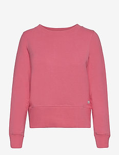 W Crewneck Zip Fleece - svetarit - rapture rose