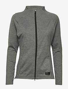 Cloudspun W Warm Up Jacket - sweatshirts - puma black heather