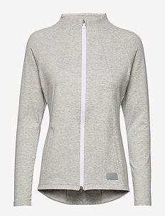 Cloudspun W Warm Up Jacket - sweatshirts - quarry heather