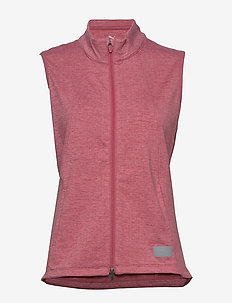 W Warm Up Vest - puffer vests - rapture rose heather